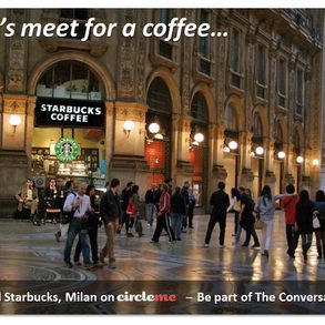 Virtual starbucks  milan on circleme