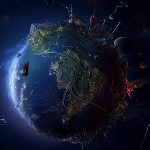 The planet earth planet earth blue space 1920x1080