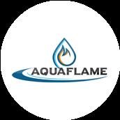 Aqua flame logo